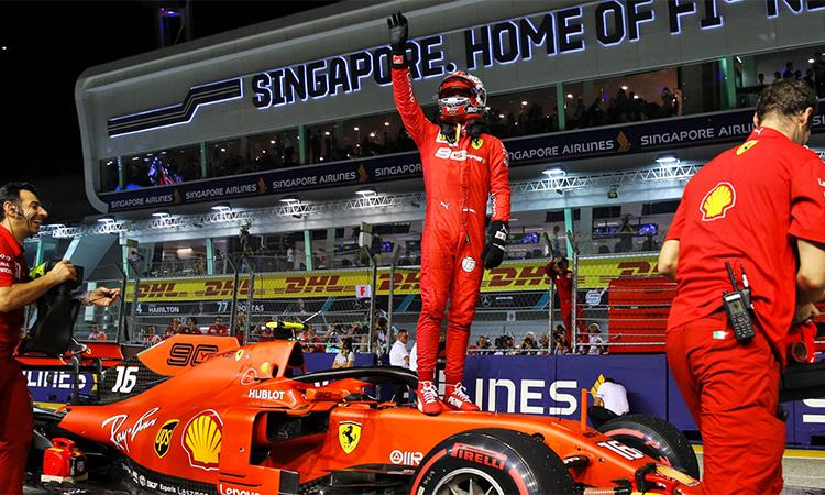 Kết quả hình ảnh cho Leclerc giành pole chặng thứ tư liên tiếp