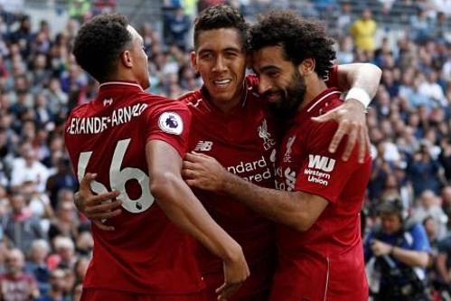 Liverpool đang có khởi đầu hoàn hảo ở Ngoại hạng Anh, với năm trận toàn thắng. Ảnh: Reuters.