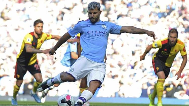 Aguero dẫn đầu danh sách ghi bàn tại Ngoại hạng Anh 2019-2020. Ảnh: AP.