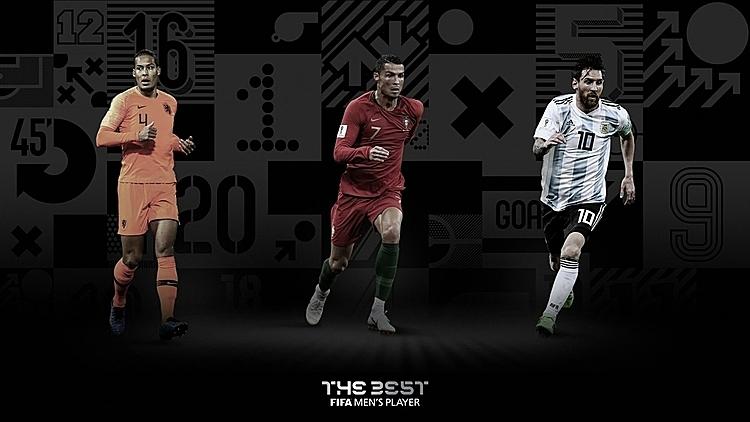 Van Dijk, Ronaldo và Messi có cơ hội đoạt giải thưởng cao quý nhất của The Best 2019. Ảnh: FIFA.
