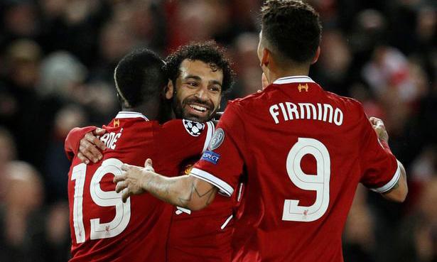 Khả năng ghi bàn của Liverpool phụ thuộc hoàn toàn vào bộ ba Mane, Salah, Firmino. Ảnh: Reuters.