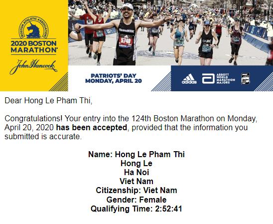 Hai VĐV đạt chuẩn Boston bằng kết quả tại VnExpress Marathon