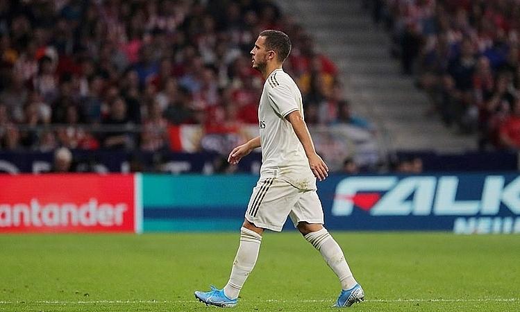 Hazard bị thay ra trong hiệp hai. Ảnh: AFP.