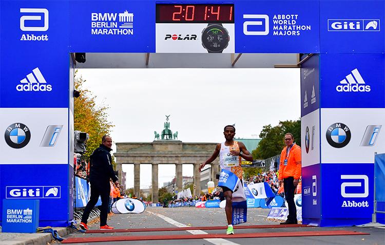 Bekeke không thể chạm tới kỷ lục của Kipchoge, nhưng vẫn đạt thành tích tốt nhất với một VĐV Ethiopia. Ảnh: WMM.