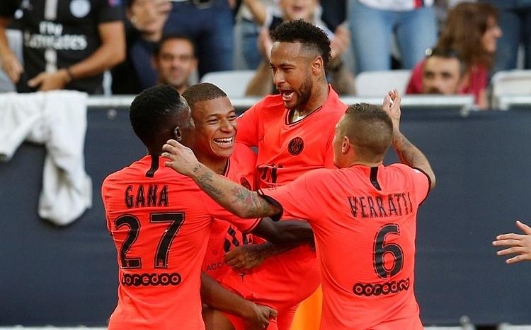 Neymar ghi ba bàn trong bốn trận kể từ khi thi đấu trở lại cho PSG. Ảnh: Reuters.