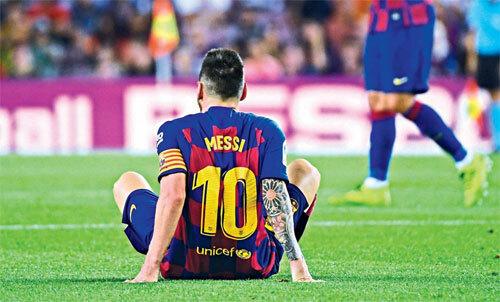 Messi chưa có bàn nào cho Barca mùa này. Ảnh: Reuters