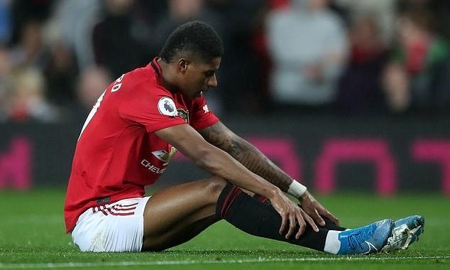 Rashford mất hút trong trận hòa Arsenal 1-1. Ảnh: PA.