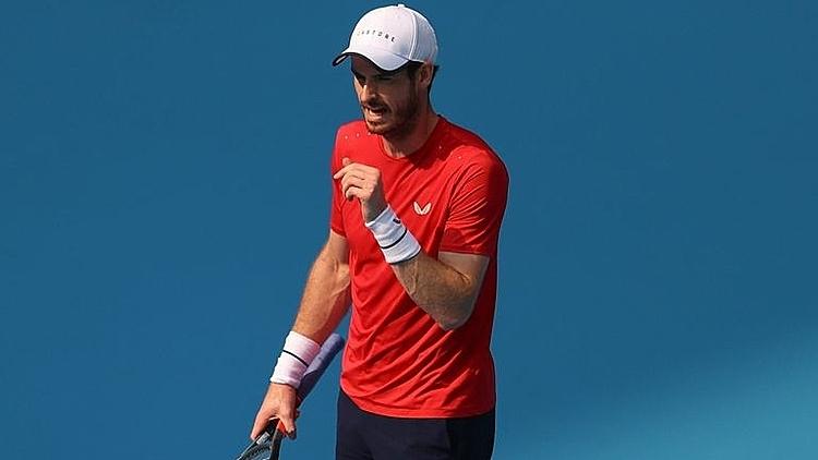 Murray mừng chiến thắng thứ hai liên tiếp. Ảnh: Sky.