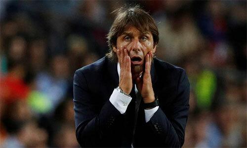 Đội của Conte mới có một điểm sau hai trận. Ảnh: Reuters