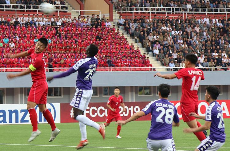 4.25 SC cầm hòa Hà Nội tại Bình Nhưỡng để giành vé vào chung kết AFC Cup 2019. Ảnh: AFC