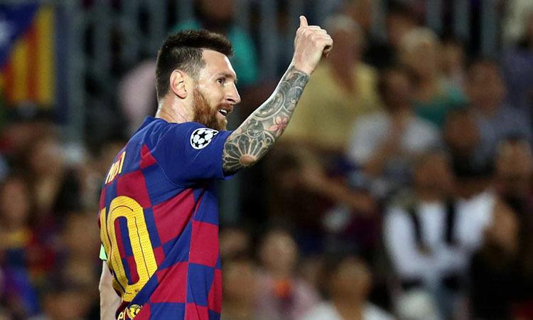 Messi vừa có trận đấu đầu tiên chơi trọn vẹn 90 phút trong mùa 2019-2020. Ảnh: Reuters.