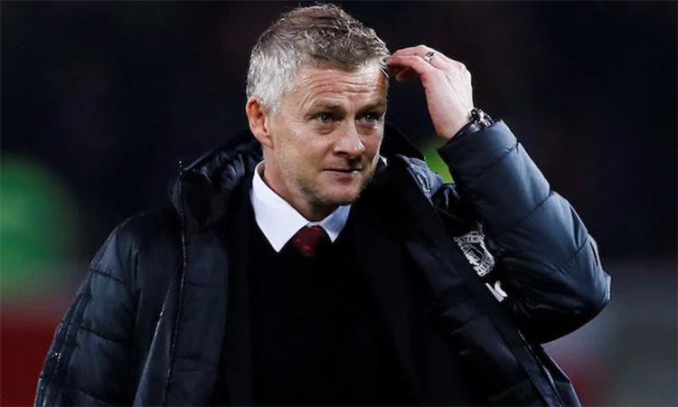 Solskjaer đang chịu áp lực thành tích rất lớn ở Man Utd, điều mà các đồng nghiệp như Klopp, Guardiola và Pochettino không phải chịu trong một hai năm đầu cầm quân tại Ngoại hạng Anh. Ảnh: Reuters.
