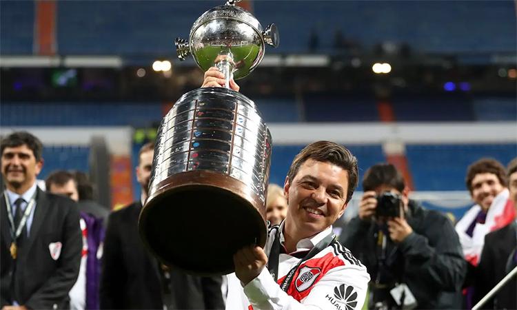 Gallardo là HLV thành công nhất Nam Mỹ hai năm qua. Ảnh: Reuters.