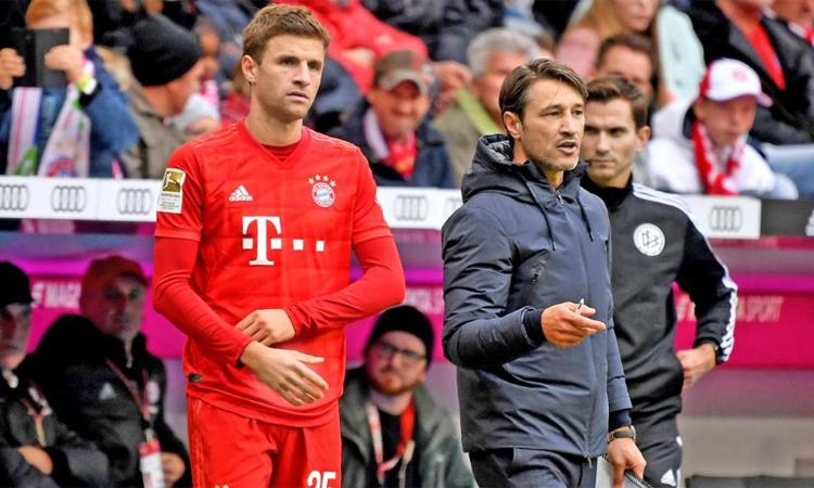Muller không được Niko Kovac trọng dụng ở vị trí tiền vệ tấn công. Ảnh: Bild.