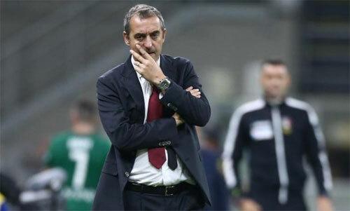 Giampaolo chỉ trụ được vài tháng tại AC Milan. Ảnh: DPA