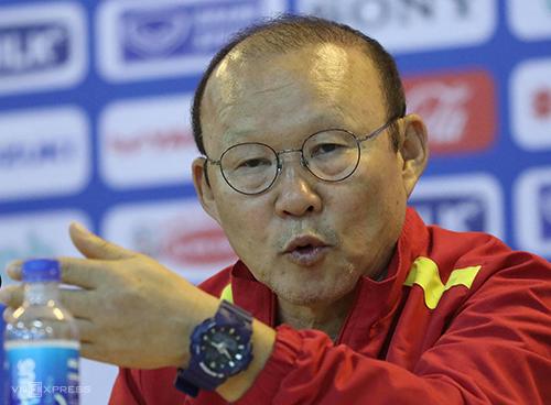 HLV Park khẳng định ông luôn muốn truyền niềm tin về tinh thần Việt Nam cho các cầu thủ. Ảnh: Ngọc Thành.