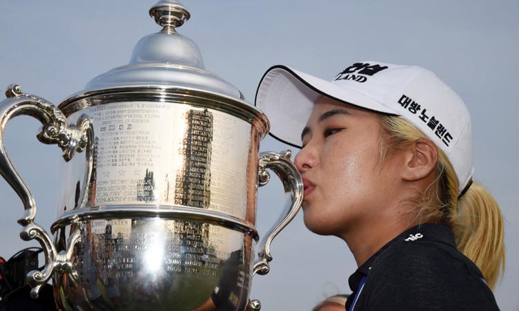 Chức vô địch sự kiện major US Women's Open làdanh hiệu đầu tiên trong sự nghiệp của Lee6 ở LPGA Tour. Ảnh: USA Today.