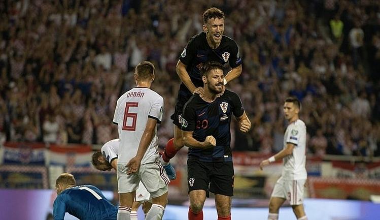 Petkovic (số 20) ghi ba bàn cho Croatia trong ba trận gần nhất. Ảnh: HNS.