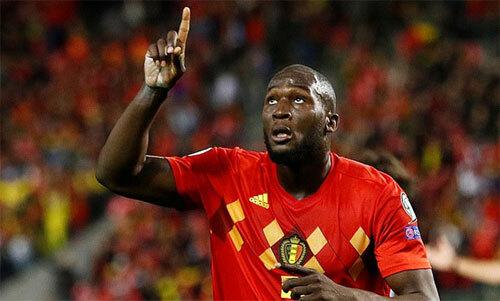 Lukaku nổ súng như thường lệ cho Bỉ. Ảnh: Reuters