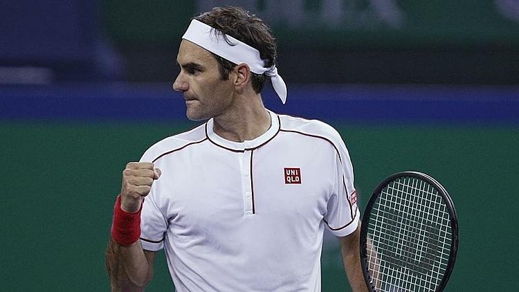 Federer lần thứ 87 vào tứ kết ATP 1000. Ảnh: AP.