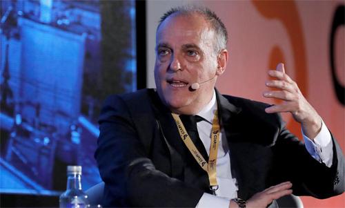 Vị Chủ tịch danh tiếng Javier Tebas của La Liga. Ảnh: EFE