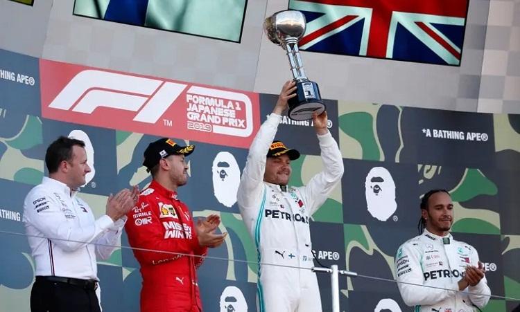 Chiến thắng của Bottas giúp Mercedes giành chức vô địch F1 thứ sáu liên tiếp. Ảnh: Reuters.