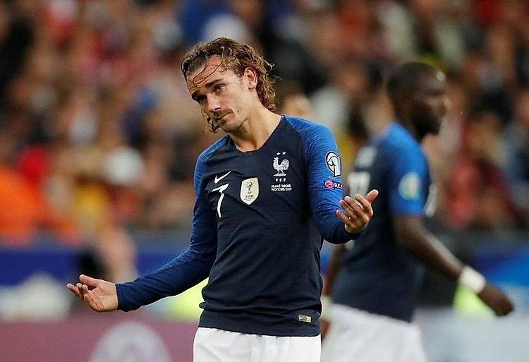 Griezmann tiếc nuối với cơ hội bị bỏ lỡ. Ảnh: Reuters.