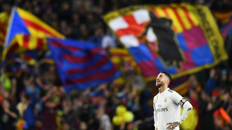 Sergio Ramos và các đồng đội vẫn sẽ đến làm khách của Barca ở trận đại chiến đầu tiên mùa này. Ảnh: AFP.
