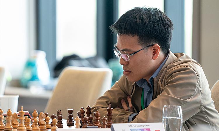 Quang Liêm khởi đầu chậm, nhưng tăng tốc từ nửa sau giải. Ảnh: Chess.com.