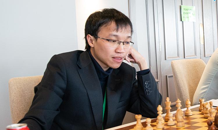 Trường Sơn gây bất ngờ khi hạ tài năng 21 tuổi người Nga Artemiev. Ảnh: Chess.com.