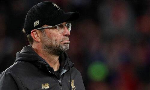 Klopp chưa thể giành chiến thắng tại Old Trafford. Ảnh: Reuters