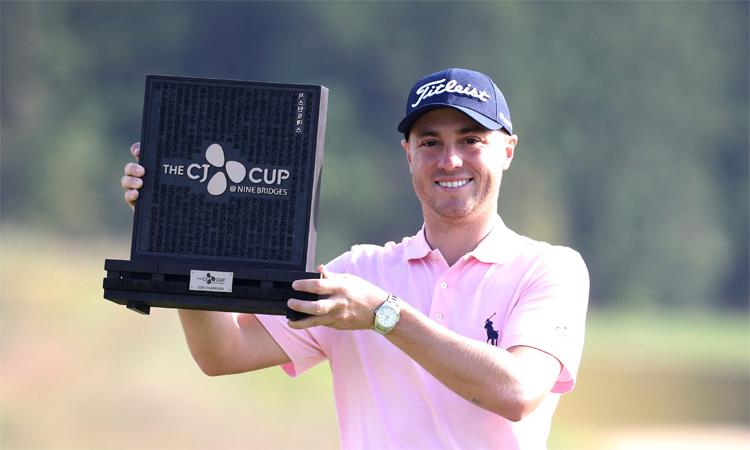 Justin Thomas là một trong bảy golfer Mỹ hiện diện trong top 10OWGR. Ảnh: AP.
