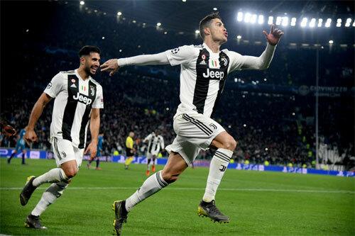 Ronaldo luôn thi đấu tưng bừng. Ảnh: Reuters