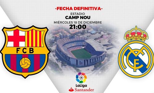 El Clasico lượt đi vẫn diễn ra tại Nou Camp, nhưng muộn gần hai tháng.
