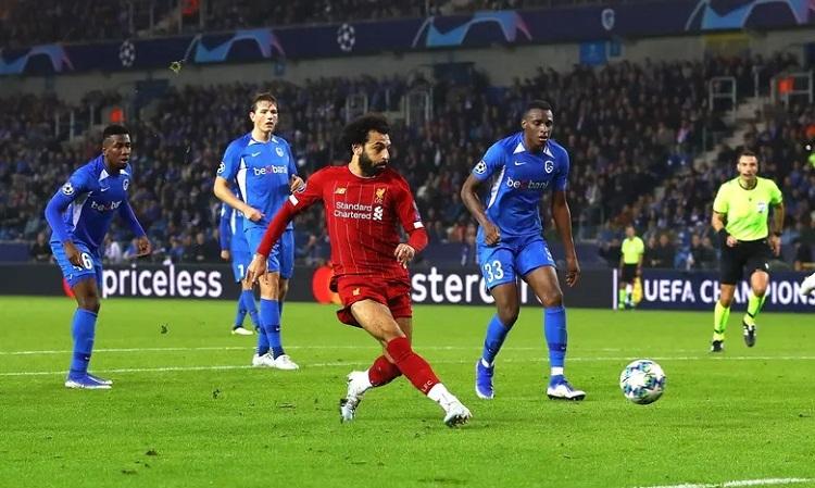 Salah phung phí nhiều cơ hội trước khi ghi bàn thứ tư cho Liverpool. Ảnh: BPI.