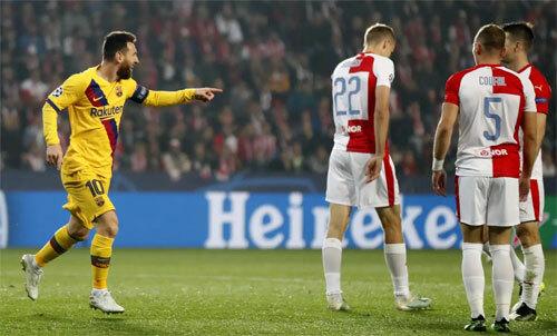 Messi bắt đầu nổ súng trên đấu trường châu Âu mùa này. Ảnh: AP