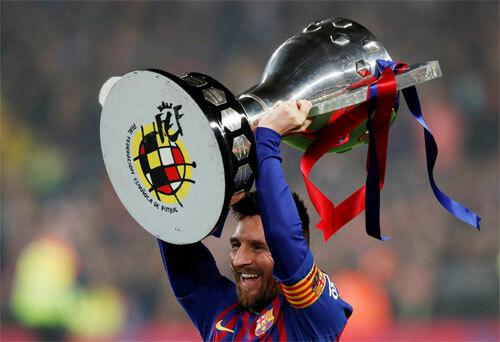 Trong 15 năm có Messi thi đấu, Barca chỉ nhường năm La Liga cho Real và Atletico. Ảnh: Reuters