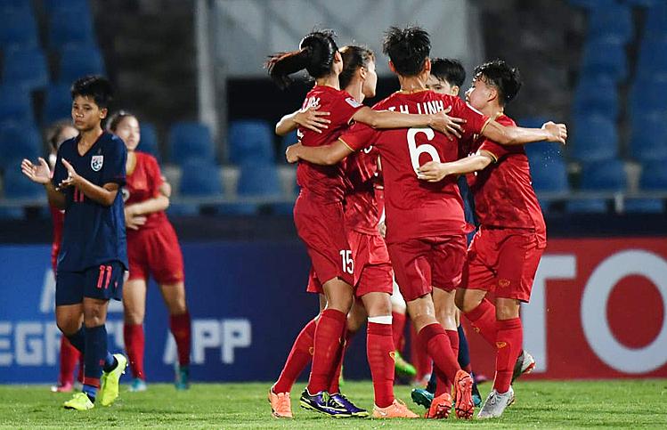 Việt Nam thắng Thái Lan ở giải U19 nữ châu Á