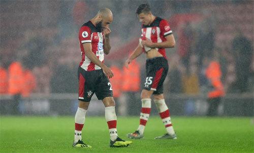 Southampton ngậm ngùi với kỷ lục buồn. Ảnh: PA