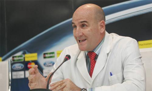Bác sĩ Del Corral từng hợp tác nhiều năm với Real. Ảnh: AS