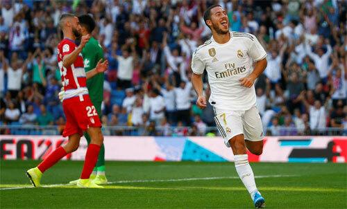 Hazard đang tìm cách hòa vào đội bóng mới. Ảnh: Reuters