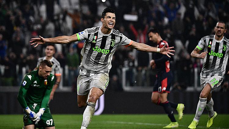 Ronaldo mừng bàn thắng quyết định trận đấu. Ảnh: Astro.