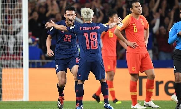 Đội tuyển Thái Lan từng thắng Trung Quốc 1-0 hồi tháng 3/2019.