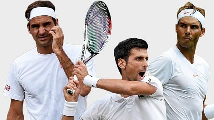 Federer, Djokovic và Nadal được nhiều tay vợt cùng thời ngưỡng mộ. Ảnh: The Times.
