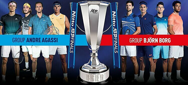 Kết quả bốc thăm chia bảng ATP Finals. Ảnh: PF.