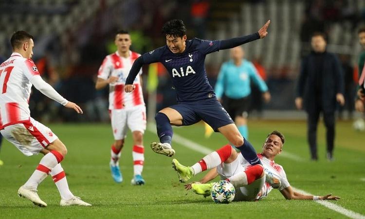 Son vượt qua sức ép tâm lý để ghi hai bàn cho Tottenham trong trận gặp Sao Đỏ Belgrade. Ảnh: Reuters.