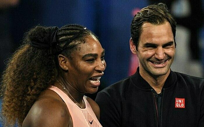Serena (trái) và Federer đều chưa có ý định giải nghệ. Ảnh: STC.