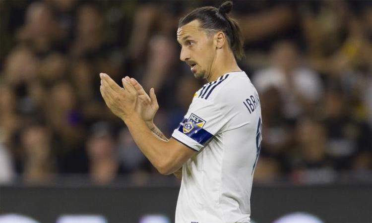 Ibrahimovic sẽ trở lại AC Milan khi hết hợp đồng với LA Galaxy. Ảnh: Reuters.
