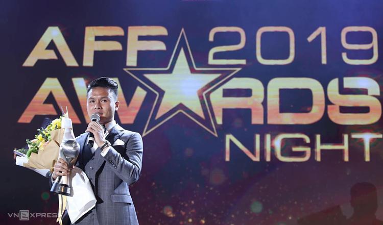 Quang Hải giành giải nam cầu thủ của năm tại AFF Awards. Ảnh:Lâm Thỏa.