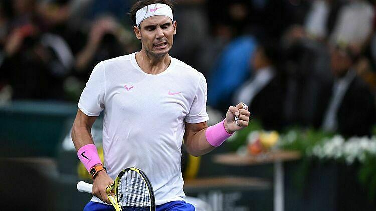 Nadal từng thua hai trận chung kết ATP Finals các năm 2010 và 2013, lần lượt trước Federer và Djokovic. Ảnh: Sky Sports.